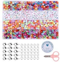Fako Bijoux® - Letterkralen Set - Letter Beads - Alfabet Kralen - Sieraden Maken - 1000 Stuks - Letters & Hartjes