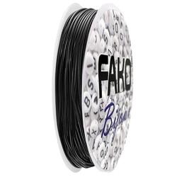 Fako Bijoux® - Elastisch Nylon Draad - Sieraden Maken - 0.8mm - 8 Meter - Zwart