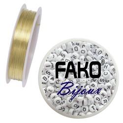 Fako Bijoux® - Koperdraad - Metaaldraad - Sieraden Maken - 0.4mm - 10 Meter - Goud