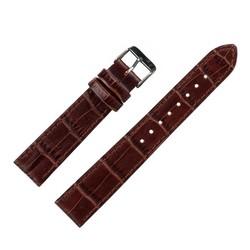 Fako® - Horlogebandje - Kunstleer - Croco - 20mm - Bruin