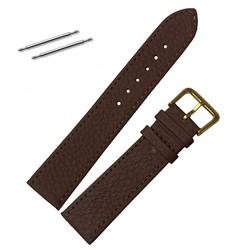 Fako® - Horlogebandje - Echt Leer - Ultra Thin - 20mm - Bruin