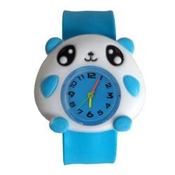 Fako® - Kinderhorloge - Slap On - Panda - Blauw