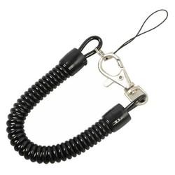 Fako Bijoux® - Sleutelhanger Spiraal - Uittrekbaar - Verend - 23cm