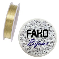Fako Bijoux® - Koperdraad - Metaaldraad - Sieraden Maken - 0.5mm - 7 Meter - Goud