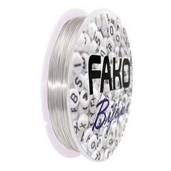 Fako Bijoux® - Koperdraad Kleurvast - Metaaldraad - Sieraden Maken - 0.3mm - 15 Meter - Zilver