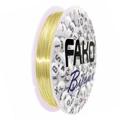 Fako Bijoux® - Koperdraad Kleurvast - Metaaldraad - Sieraden Maken - 0.4mm - 9 Meter - Goud