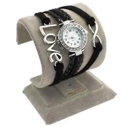 Fako® - Armband Horloge - Multi Infinity Love - Zwart
