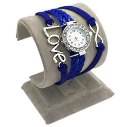 Fako® - Armband Horloge - Multi Infinity Love - Donkerblauw