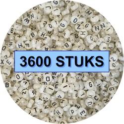 Fako Bijoux® - Letterkralen - Letter Beads - Alfabet Kralen - Sieraden Maken - 3600 Stuks - Glow