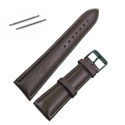 Fako® - Horlogebandje - Echt Leer - Soft - 18mm - Bruin