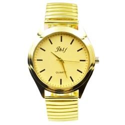 Fako® - Horloge - Rekband - Jhlf - Ø 40mm - Goudkleurig
