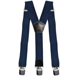 Fako Fashion® - Bretels - Extra Breed - 28mm Brede Clips - XL - 120cm - Navy Blauw