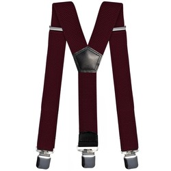 Fako Fashion® - Bretels - Extra Breed - 28mm Brede Clips - XL - 120cm - Bordeaux Rood