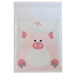 Fako Bijoux® - 100x Uitdeelzakjes - Cellofaan Plastic Traktatie Kado Zakjes - Snoepzakjes - Big - 10x10cm