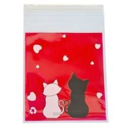 Fako Bijoux® - 100x Uitdeelzakjes - Cellofaan Plastic Traktatie Kado Zakjes - Snoepzakjes - Cats - 10x10cm