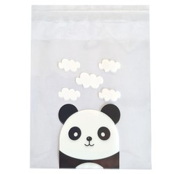 Fako Bijoux® - 100x Uitdeelzakjes - Cellofaan Plastic Traktatie Kado Zakjes - Snoepzakjes - Panda - 10x10cm