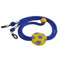 Fako Bijoux® - Brillenkoord - Kids - Nylon - Voetbal - Donkerblauw