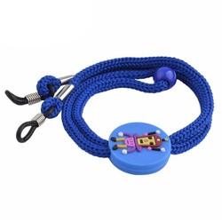Fako Bijoux® - Brillenkoord - Kids - Nylon - Robot - Donkerblauw