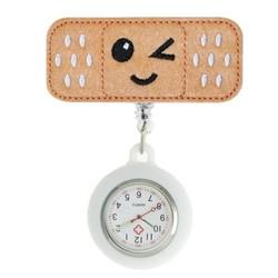 Fako® - Verpleegstershorloge - Roller Pleister - Emoji Knipoog - Wit