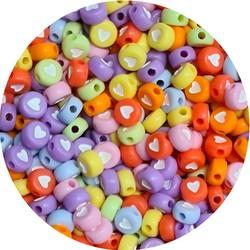 Fako Bijoux® - Hartjes Kralen - Acryl - 7mm - Sieraden Maken - 250 Stuks - Candy
