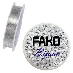 Fako Bijoux® - Koperdraad - Metaaldraad - Sieraden Maken - 0.6mm - 5 Meter - Zilver