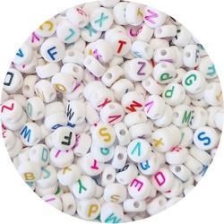Fako Bijoux® - Letterkralen - Letter Beads - Alfabet Kralen - Sieraden Maken - 300 Stuks - Regenboog