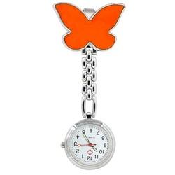 Fako® - Verpleegstershorloge - Vlinder - Oranje