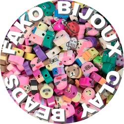 Fako Bijoux® - Klei Kralen Dieren - Figuurkralen - Kleikralen - 10mm - 100 Stuks
