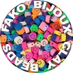 Fako Bijoux® - Klei Kralen Smiley / Emoji - Figuurkralen - Kleikralen - 10mm - 100 Stuks