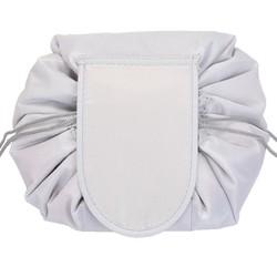 Fako Fashion® - Magic Travel Pouch - Cosmetic Opberg Tas - Make-up Opbergsysteem - Make-up Toilettas - Reistas - Cosmetica Accessoires Organiser - Handige Toilettas - Lichtgrijs