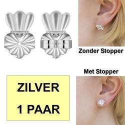 Fako Bijoux® - Magic Oorbel Lifter - Anti-Kantel Stopper - Kroon - 2 Stuks - Zilverkleurig