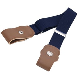 Fako Fashion® - Kinderriem Zonder Gesp - Gespvrije Riem Kinderen - Elastische Riem - Rekbare Riem - Broekriem Zonder Gesp - Stretch Riem - Navy Blauw