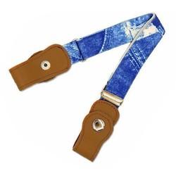 Fako Fashion® - Kinderriem Zonder Gesp - Gespvrije Riem Kinderen - Elastische Riem - Rekbare Riem - Broekriem Zonder Gesp - Stretch Riem - Jeans Print