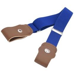 Fako Fashion® - Kinderriem Zonder Gesp - Gespvrije Riem Kinderen - Elastische Riem - Rekbare Riem - Broekriem Zonder Gesp - Stretch Riem - Blauw