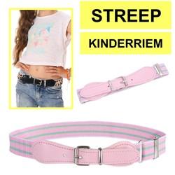Fako Fashion® - Kinderriem Elastisch Oval - Elastische Riem Voor Kinderen - Rekbare Riem - Broekriem - Stretch Riem - Print Streep