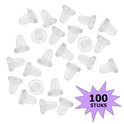Fako Bijoux® - Oorbel Stoppers / Achterkantjes - Siliconen - 100 Stuks