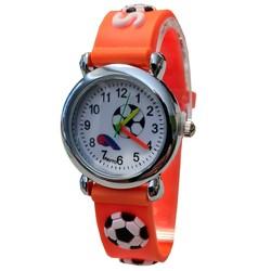 Fako® - Kinderhorloge - 3D - Voetbal - Oranje