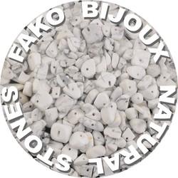 Fako Bijoux® - Stukjes Natuursteen - Natuursteen Chips - Stukjes Onregelmatige Natuursteen Split In Doosje - 5-8mm - 60-70 Gram - Howliet