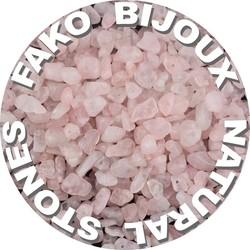 Fako Bijoux® - Stukjes Natuursteen - Natuursteen Chips - Stukjes Onregelmatige Natuursteen Split In Doosje - 5-8mm - 60-70 Gram - Rozenkwarts