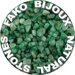 Fako Bijoux® - Stukjes Natuursteen - Natuursteen Chips - Stukjes Onregelmatige Natuursteen Split In Doosje - 5-8mm - 60-70 Gram - Groene Aventurijn
