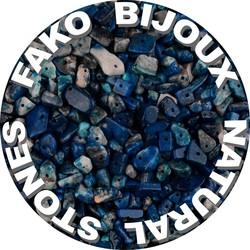 Fako Bijoux® - Stukjes Natuursteen - Natuursteen Chips - Stukjes Onregelmatige Natuursteen Split In Doosje - 5-8mm - 60-70 Gram - Lapis Lazuli