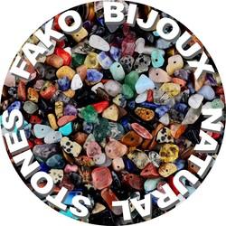 Fako Bijoux® - Stukjes Natuursteen - Natuursteen Chips - Stukjes Onregelmatige Natuursteen Split In Doosje - 5-8mm - 60-70 Gram - Multicolor Mix