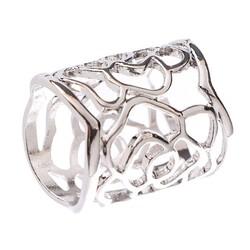 Fako Bijoux® - Sjaalklem - Tube - Roos - 22x27mm - Zilverkleurig