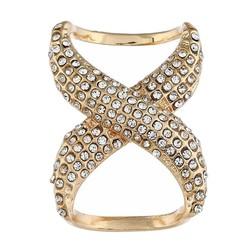 Fako Bijoux® - Sjaalklem - Infinity - Kristal - 30x40mm - Goudkleurig