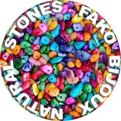 Fako Bijoux® - Stukjes Natuursteen - Natuursteen Chips - Stukjes Onregelmatige Natuursteen Split In Doosje - 5-8mm - 60-70 Gram - Spicy Color Mix