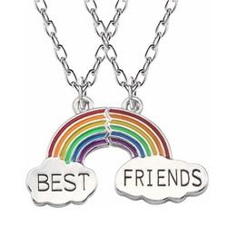Fako Bijoux® - Vriendschapsketting - Regenboog - Rainbow