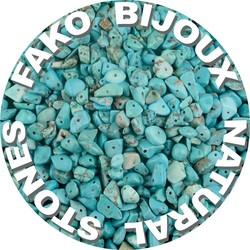 Fako Bijoux® - Stukjes Natuursteen - Natuursteen Chips - Stukjes Onregelmatige Natuursteen Split In Doosje - 5-8mm - 60-70 Gram - Groene Turquoise
