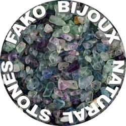 Fako Bijoux® - Stukjes Natuursteen - Natuursteen Chips - Stukjes Onregelmatige Natuursteen Split In Doosje - 5-8mm - 60-70 Gram - Fluoriet
