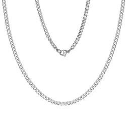 Fako Bijoux® - Schakelketting Staal - RVS - Gourmette - Cuban Link - 3.5mm - 60cm - Zilverkleurig