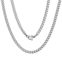 Fako Bijoux® - Schakelketting Staal - RVS - Gourmette - Cuban Link - 4.5mm - 50cm - Zilverkleurig
